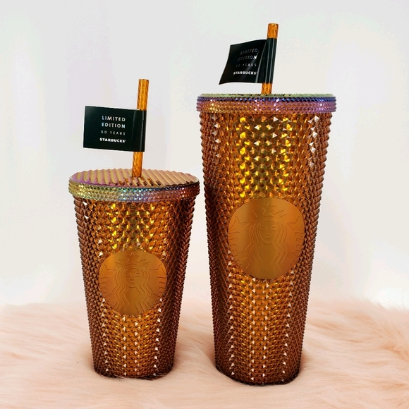 2021 50th Anniversary Gold Honeycomb Tumbler Cup